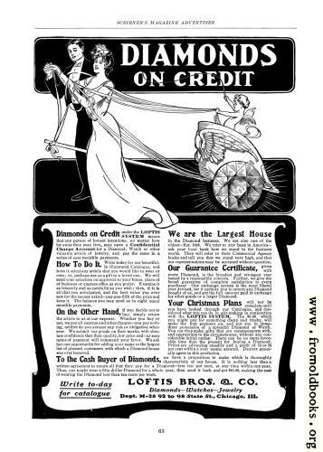 [Picture: Old Advert: Diamonds on Credit]
