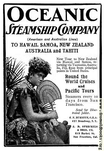 [Picture: Old Advert: Oceanic Steamship Company]