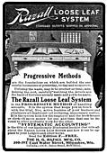 [picture: Old Advert: Razall Loose Leaf System]