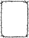 Border of twigs (US Letter Sized Version)