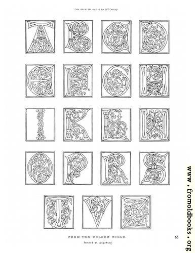 [Picture: Alphabet from the Golden Bible, late 15th Century]