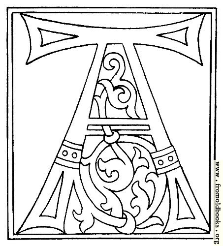 Clipart Initial Letter A From Late 15th Century Printed Book