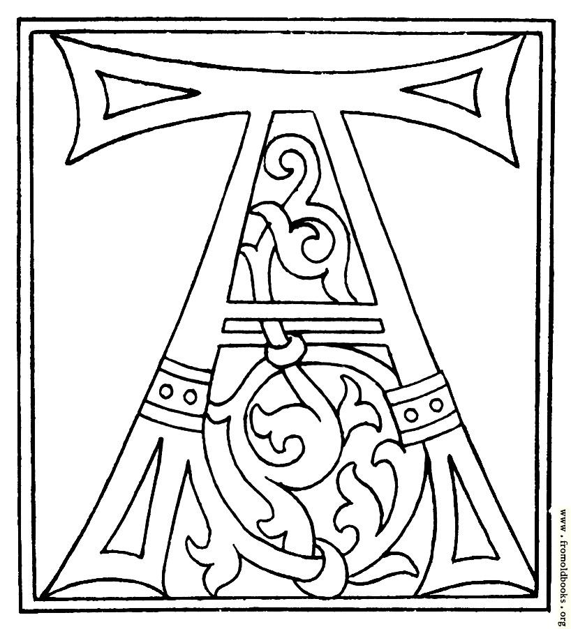 A Alphabet Letter clipart: initial lette...