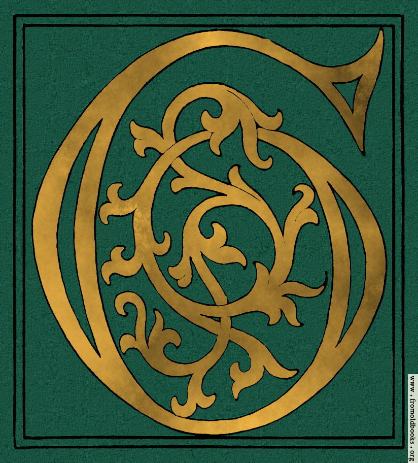Green and Gold caligraphic/Uncial Capital G