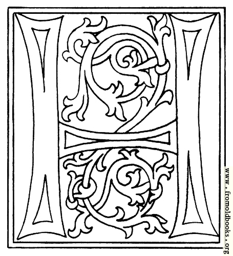 [Picture: clipart: initial letter H from late 15th century printed book]