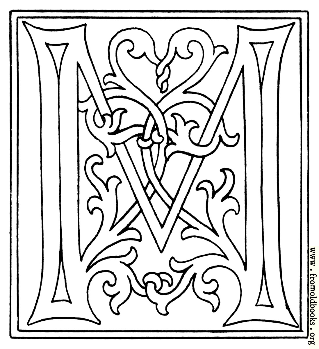 Coloring book pages letter m - 1097x1200 262k