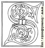 clipart: initial letter S from late 15th century printed book