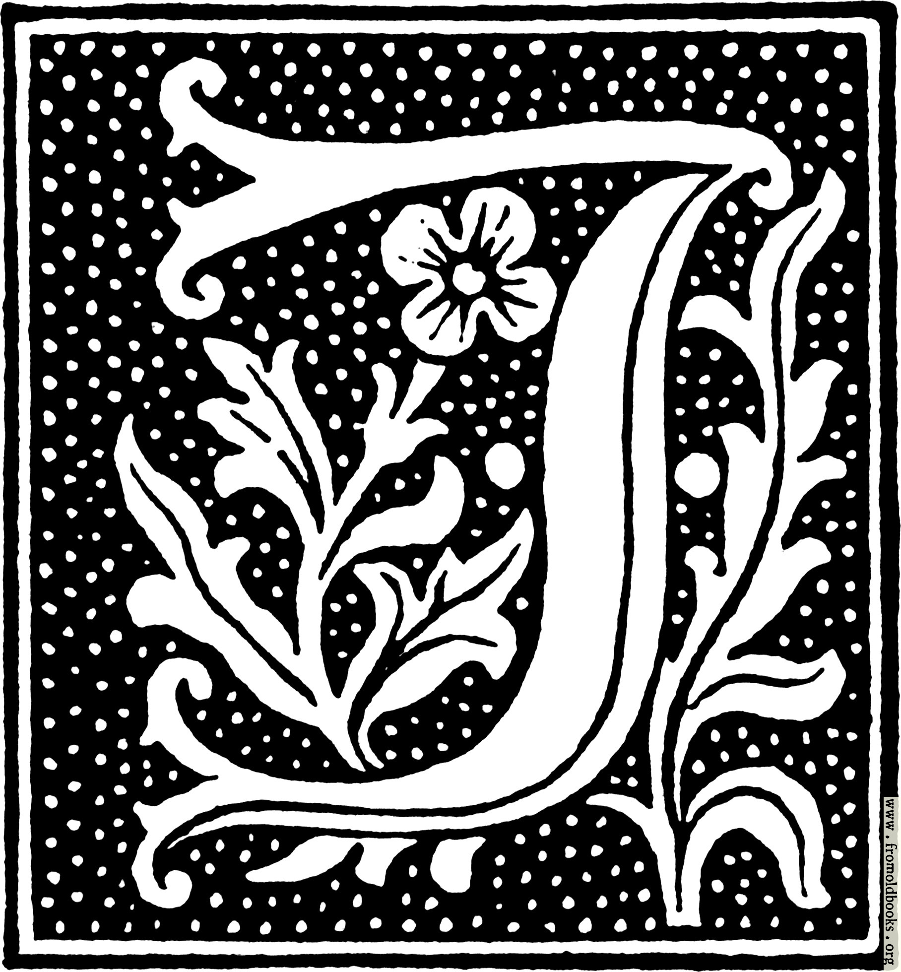 Clipart Initial Letter J From Beginning Of The 16th Century