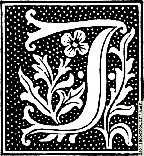 [Picture: clipart: initial letter J from beginning of the 16th Century]