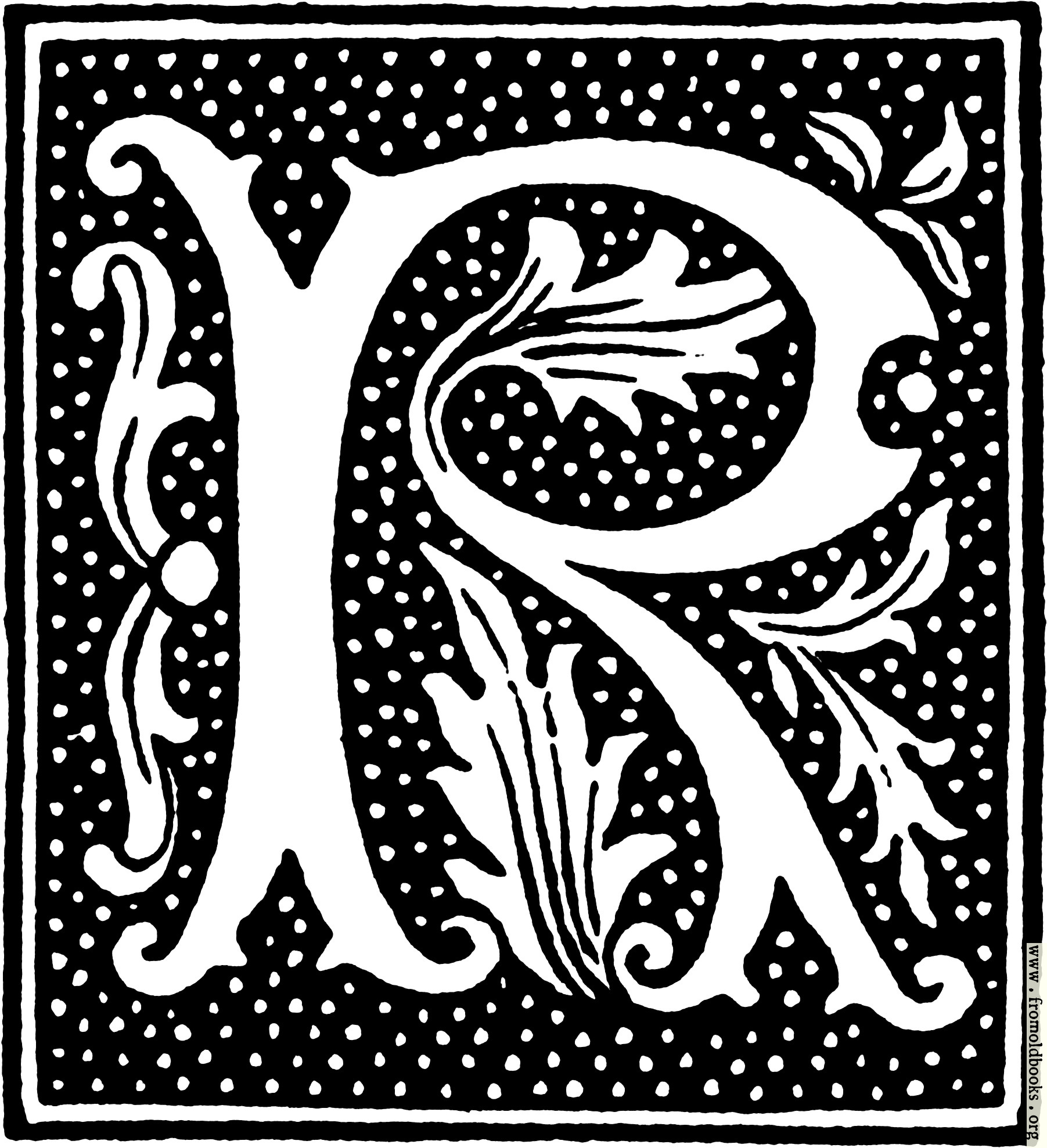 Clipart initial letter r from beginning of the 16th century 456x500 78k jpg free download thecheapjerseys Image collections