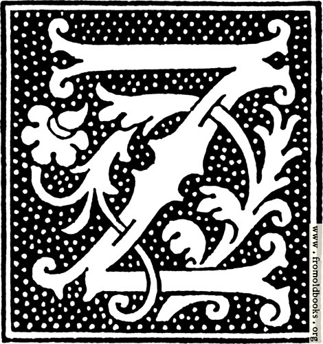 [Picture: clipart: initial letter Z from beginning of the 16th Century]
