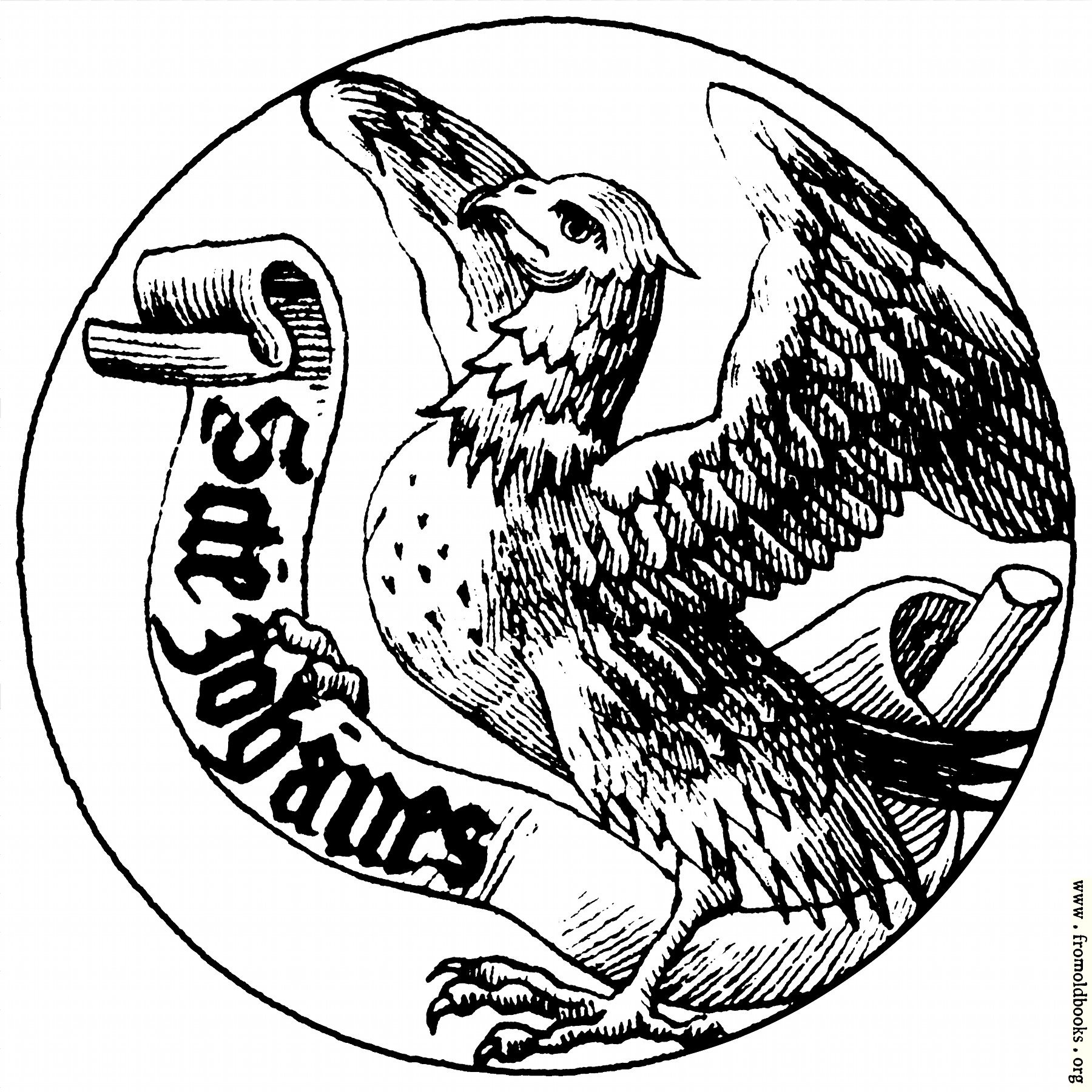 Saints Symbol Drawing Badge of Saint John The