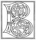 clipart: initial letter B from late 15th century printed book