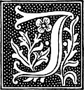 clipart: initial letter J from beginning of the 16th Century