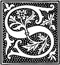 [picture: clipart: initial letter S from beginning of the 16th Century]