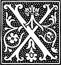clipart: initial letter X from beginning of the 16th Century
