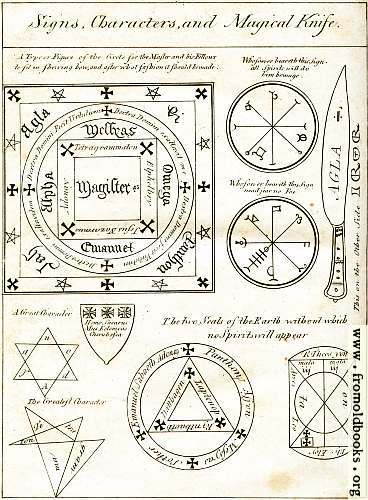[Picture: Magical Circle, Seals and Characters]