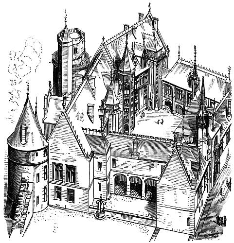 7.—House of Jacques Cœur at Bourges (Begun 1443) [image 481x500 ...