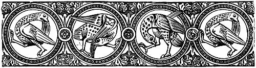 [Picture: Gothic Chapter Head: Mediaeval Birds]