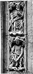 30.—Sculpture from the entrance to the chapter house, Westminster Abbey (1250)