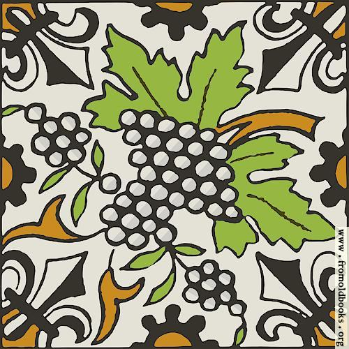 [Picture: Dutch Delft ceramic tile 28, SVG version]