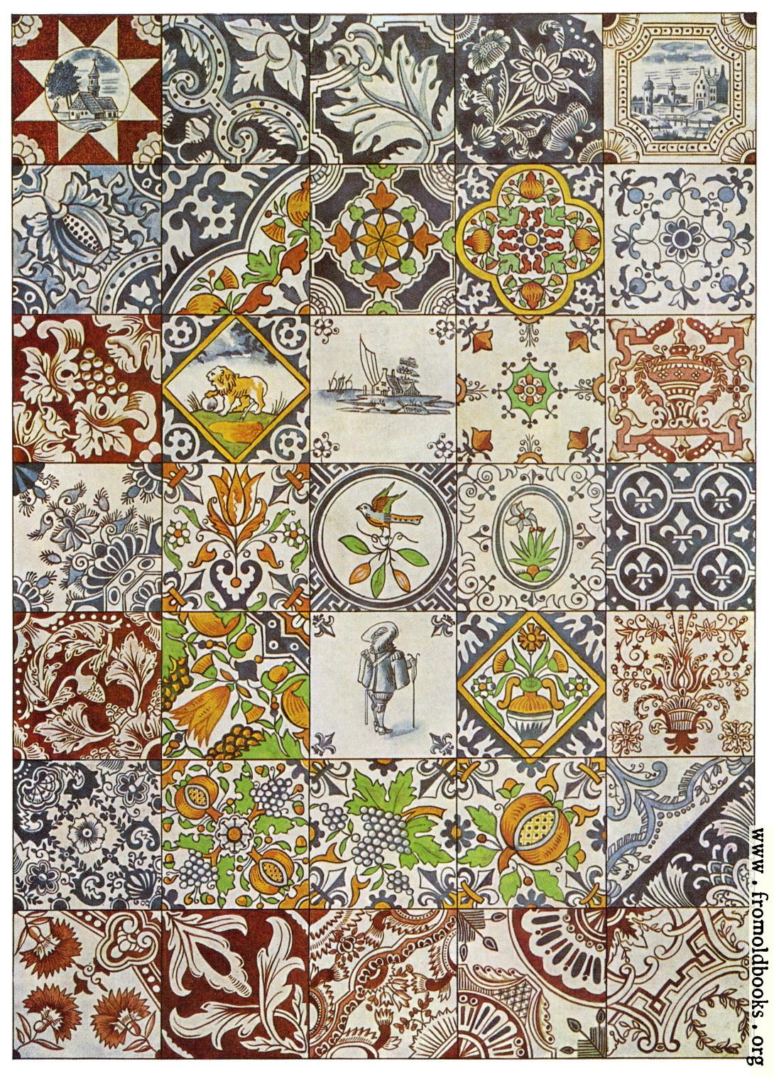 104 Dutch Ceramic Tiles