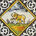 [picture: Dutch Delft ceramic tile 12]
