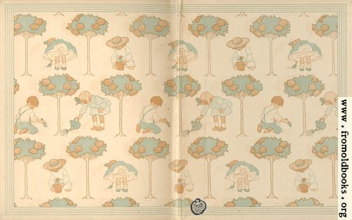 [Picture: End Papers: children playing in the garden]