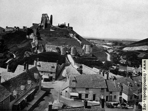 [Picture: Corfe Village and Castle]