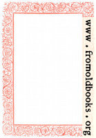 [Picture: Victorian floral border, red]