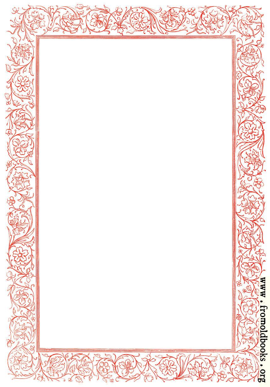 Floral Border | New Calendar Template Site