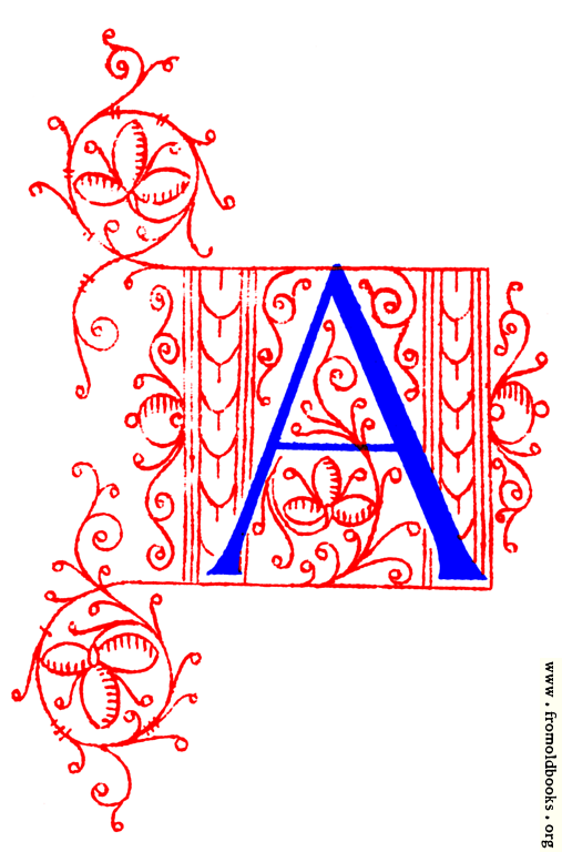 letter a. Decorative initial letter A