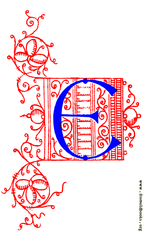 Decorative uncial initial letter E from fifteenth Century ...