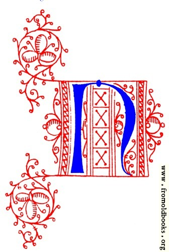 [Picture: Decorative uncial initial letter N from fifteenth Century Nos. 4 and 5.]