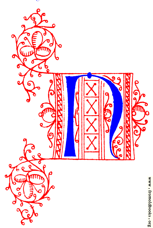 Decorative uncial initial letter N from fifteenth Century ...