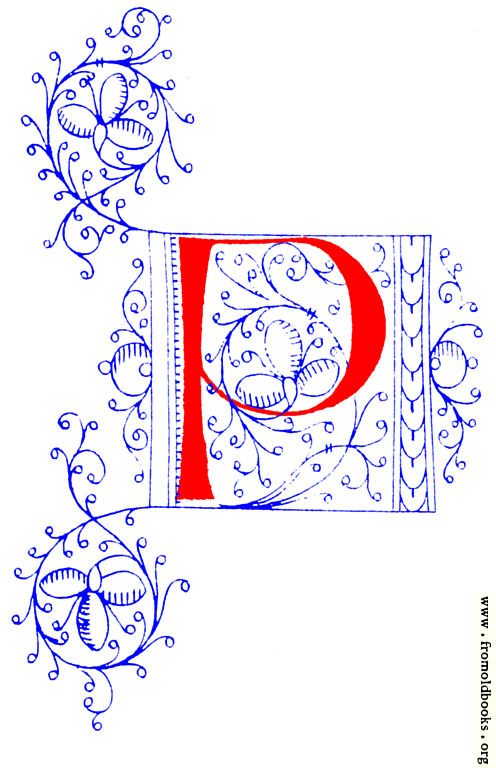 Decorative initial letter P from fifteenth Century Nos. 4 ...