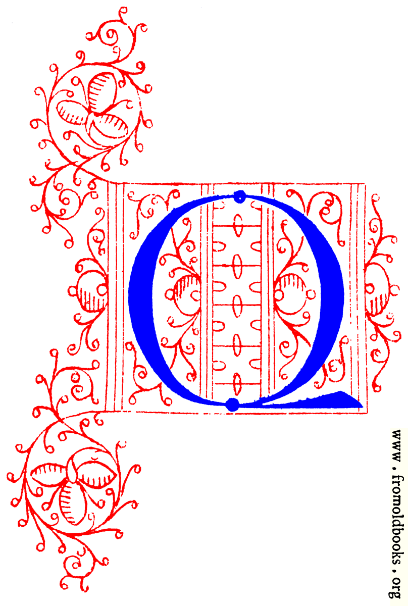 Decorative Initial Letter Q From Fifteenth Century Nos  4