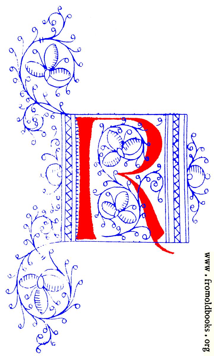 printable medieval illuminated letters