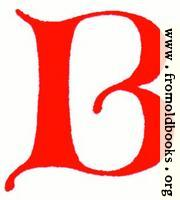 Clip-art: calligraphic decorative initial capital letter B from XIV. Century  No. 1
