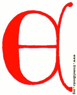 [Picture: Clip-art: calligraphic decorative initial capital letter E from XIV. Century  No. 1]