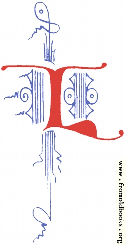 [Picture: Clip-art: calligraphic decorative initial capital letter L from Plate 65]