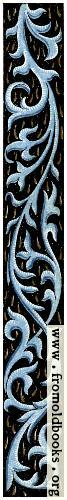 [Picture: Blue vine border from 15th century manuscript]