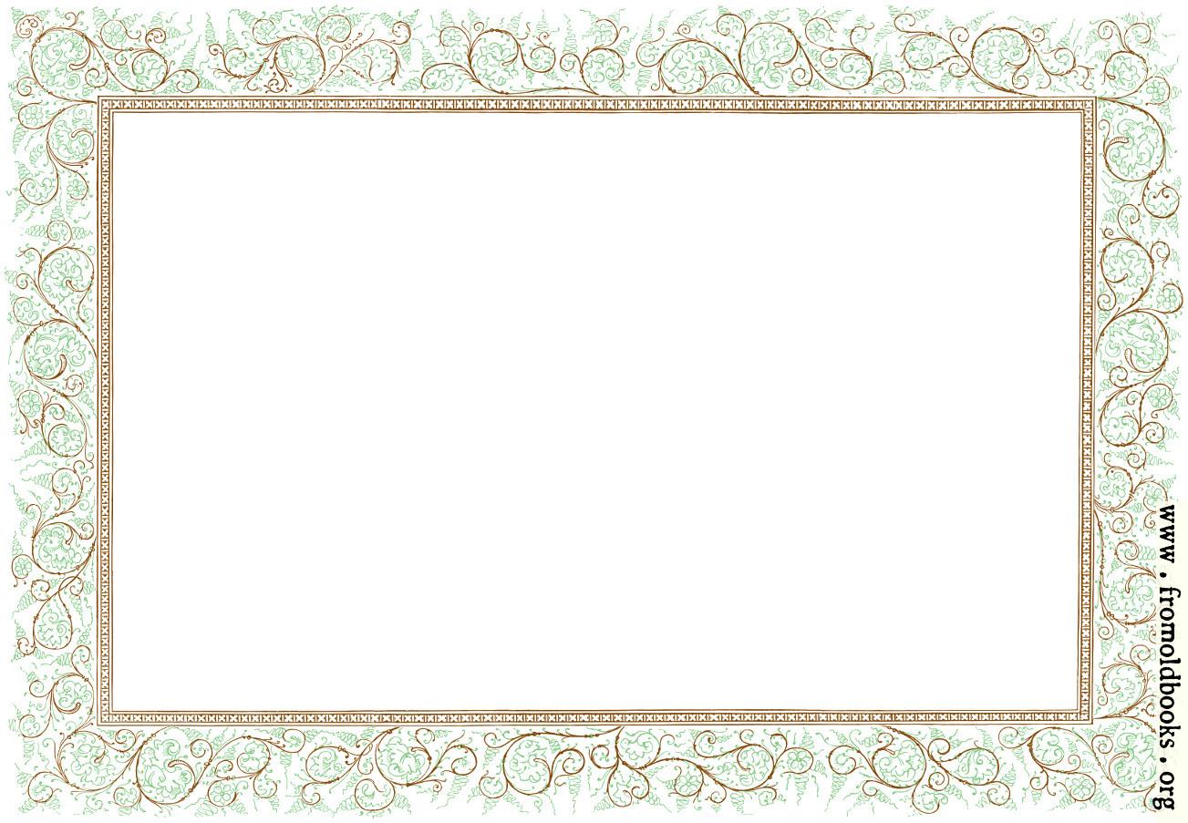 Clip art victorian floral border landscape version for Free garden border designs
