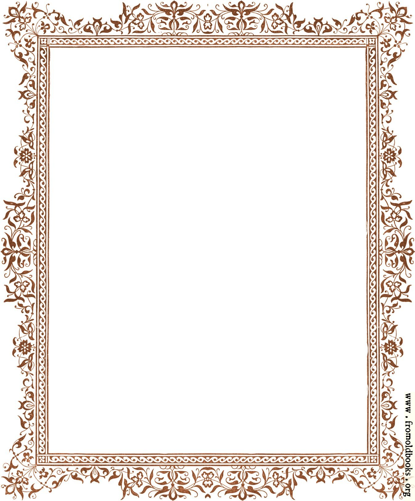 Decorative Clip Art Victorian Border Antique Brown Image