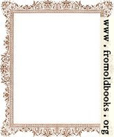 Decorative clip-art Victorian border, antique brown