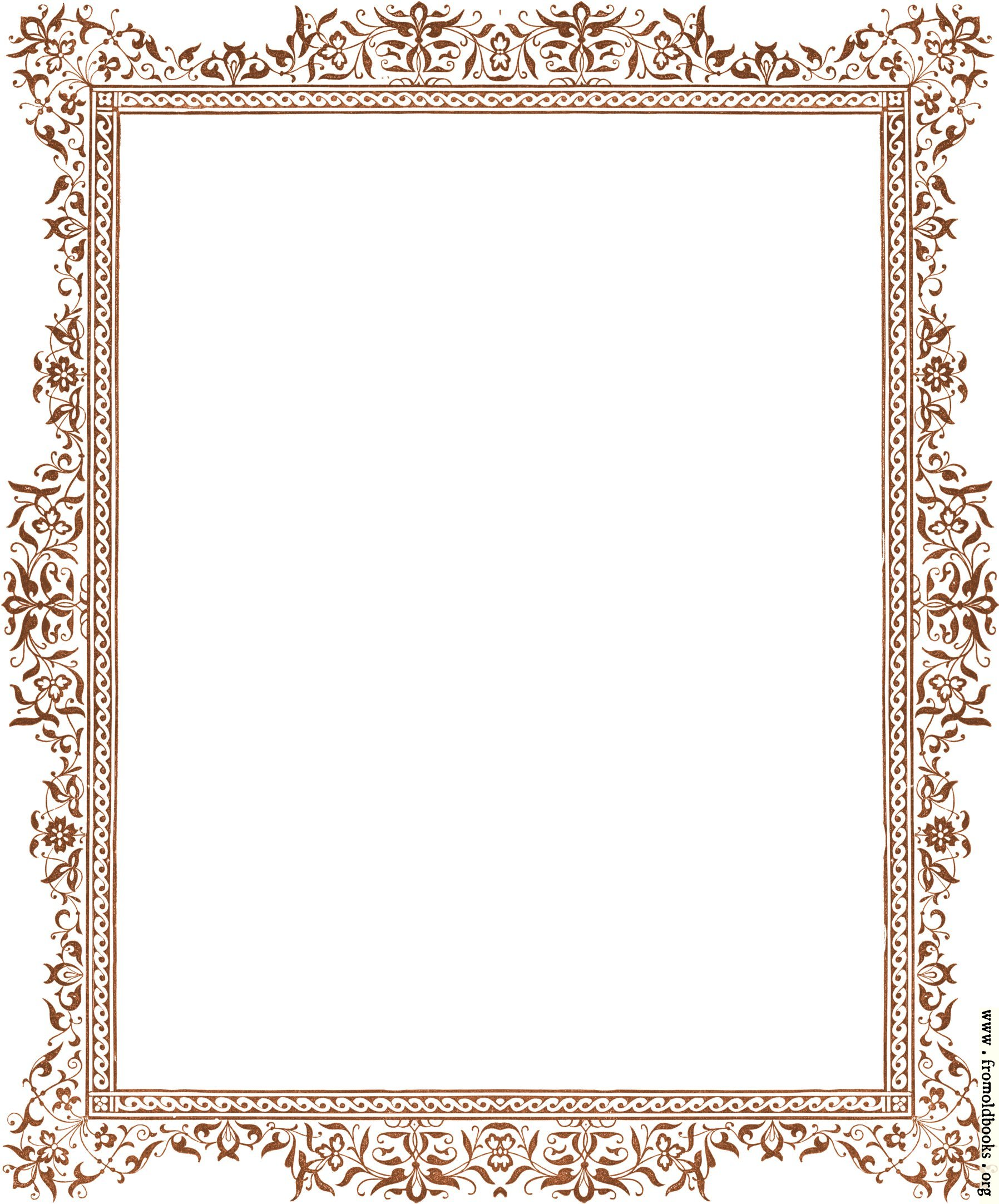 Decorative Clip art Victorian Border Antique Brown