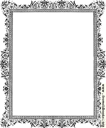 [Picture: Decorative clip-art Victorian border, Black and White]
