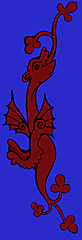 [picture: Red Dragon on Blue Background]