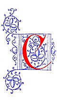 [picture: Decorative initial letter C from fifteenth Century Nos. 4 and 5.]
