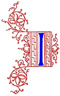 Decorative initial letter I from fifteenth Century Nos. 4 and 5.